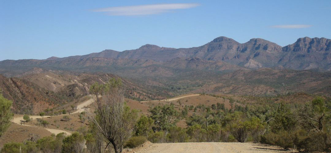 bike touring, Bunyaroo Road, Flinders Ranges, Mawson Trail, South Australia