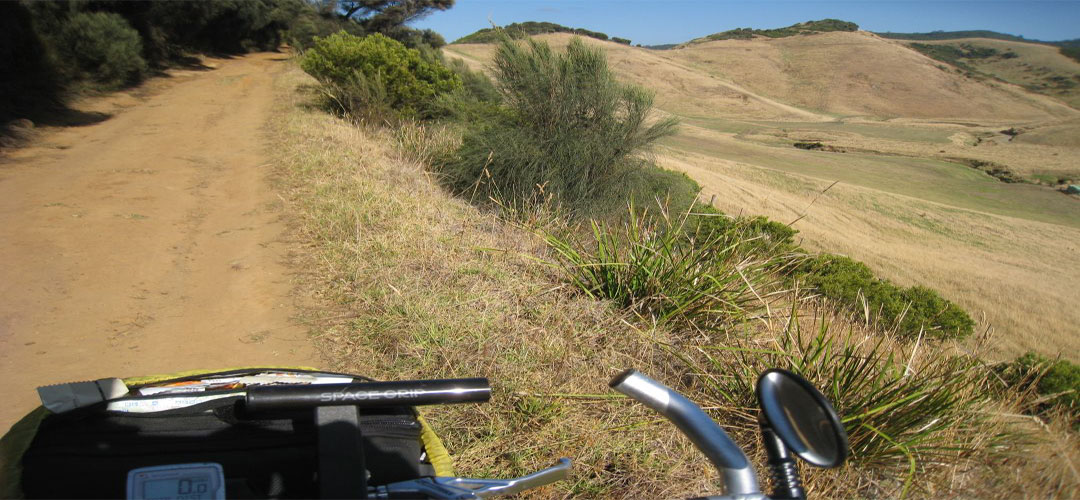 bike trail, Johanna Beach, Great Ocean Road, Victoria