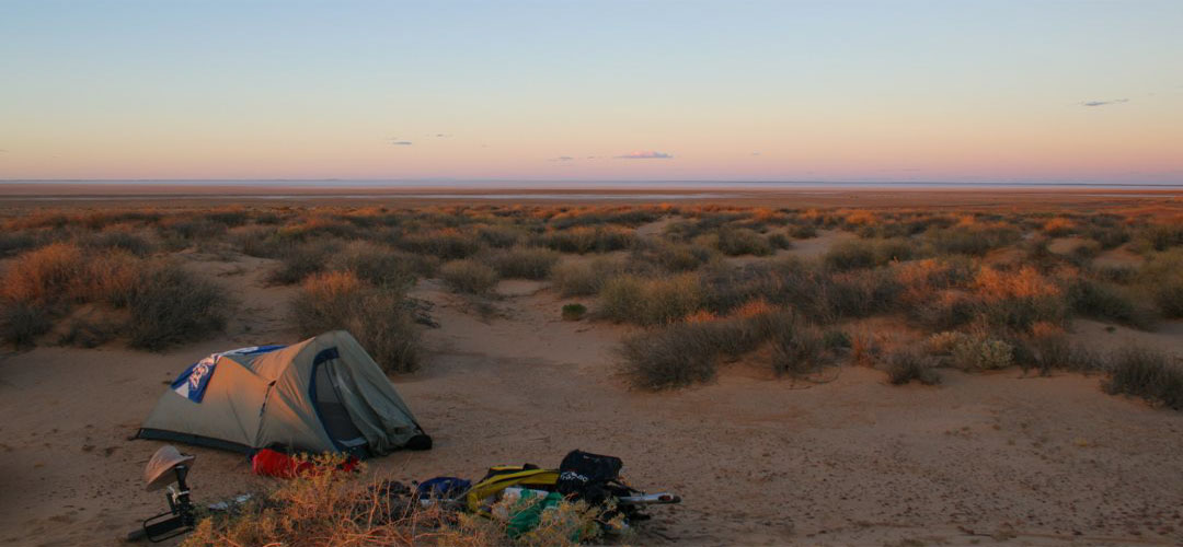 solo bush camp South Lake Eyre, Oodnadatta Track, South Australia