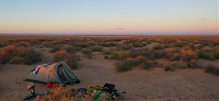 solo bush camp South Lake Eyre, Oodnadatta Track, South Australia